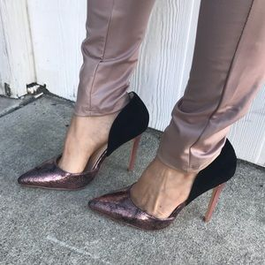 Shoes - ‼️Clearance ‼️ Pointy Toe Pump in Blush & Black
